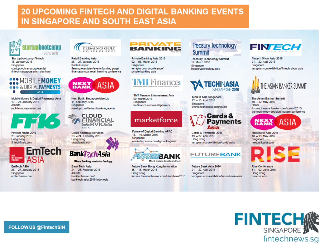 Upcoming Fintech and Digital Banking Events in Singapore and Southeast Asia