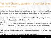 Singapore FinTech Speech by Tharman Shanmugaratnam about Singapore FinTech Festival
