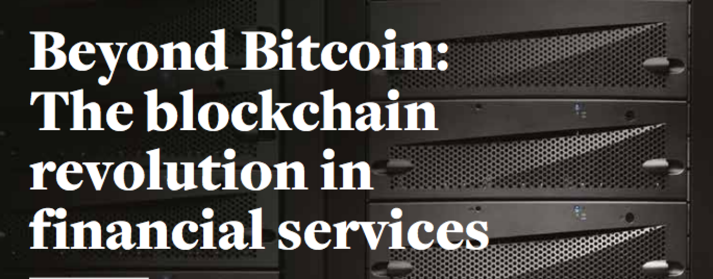 Blockchain To Cause A 'Profound Technological Shift' In Banking, Insurance, And Beyond