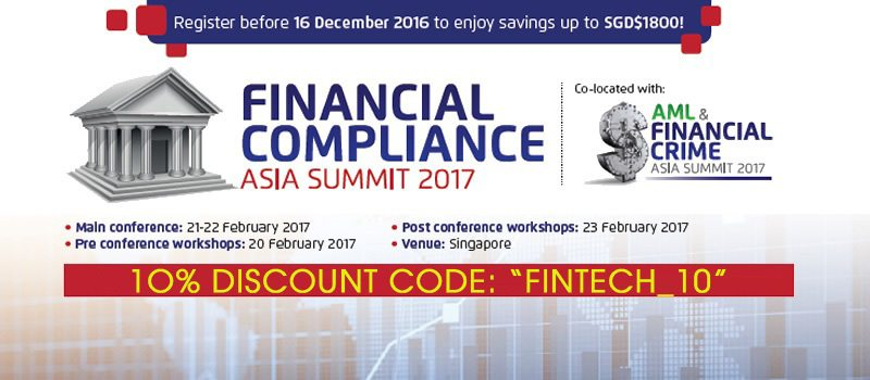 """Special Offer: 10% Off With Code """"FINTECH_10"""". Register NOW!"""