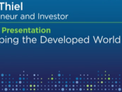 """Lendit USA Review: Keynote Presentation by Peter Thiel """"Developing the Developed World"""""""