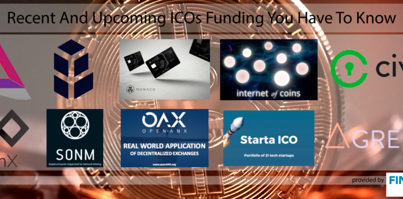 9 Recent And Upcoming ICOs Funding You Have To Know