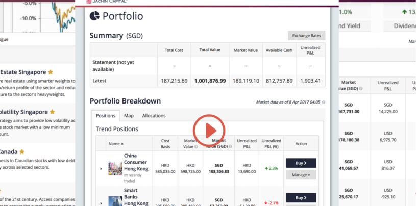 """Jachin Capital To Offer iAdvisor, its """"Live"""" Online Investing Platform in Singapore"""