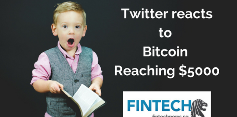 Twitter reacts to Bitcoin reaching $5000
