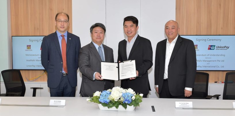 AsiaMalls Management and UnionPay International Partner to Launch QR Code Payments across 6 Malls