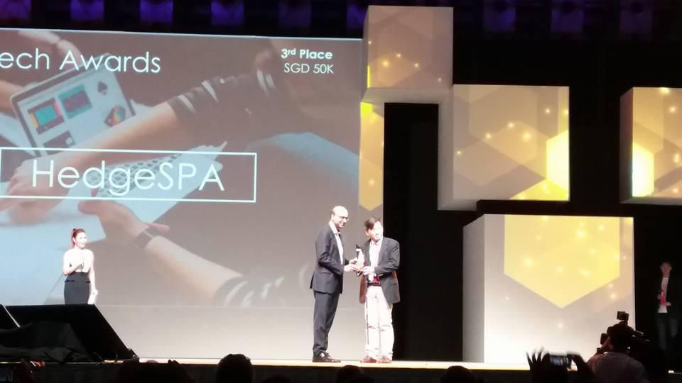 Mas Fintech Award Singapore SME Winner - HedgeSpa