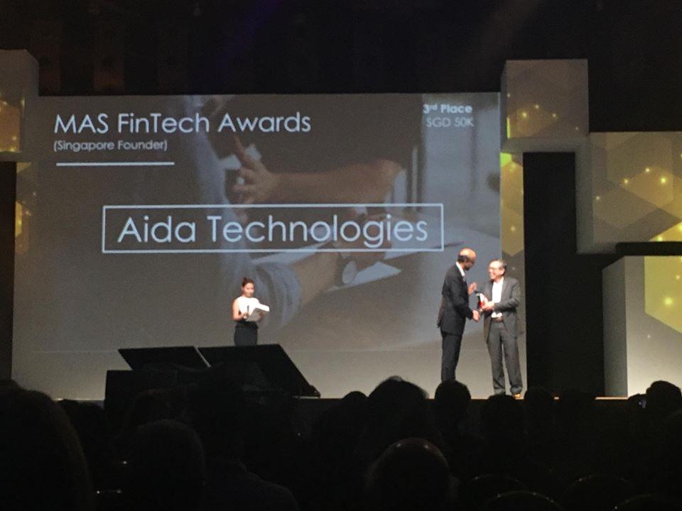 Mas Fintech Award Singapore Founder Winner - AIDA Technologies