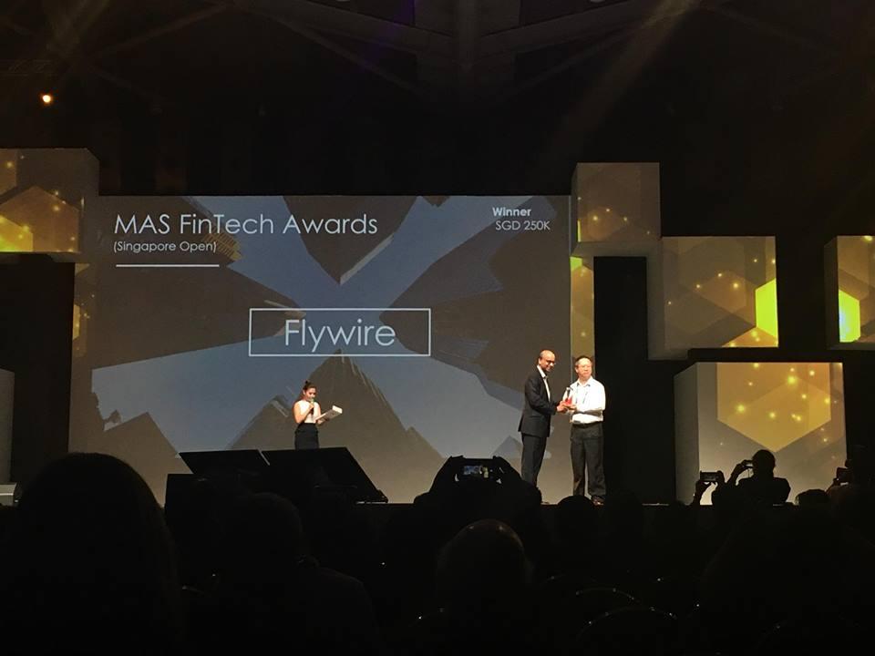 Mas Fintech Award Singapore Open Winner - Flywire