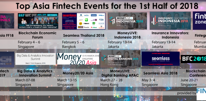 Top Asia Fintech Events for the 1st Half of 2018