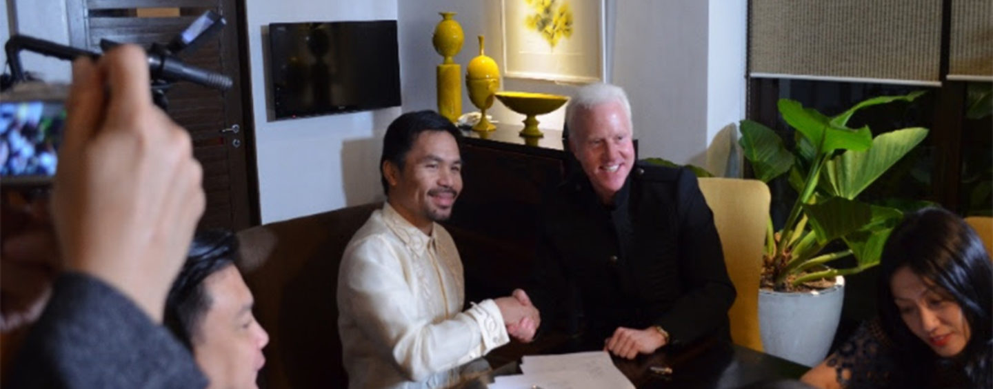 Pacquiao is latest CryptoCeleb, invests in GCOX