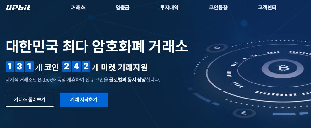 Upbit Korean Cryptocurrency Exchanges