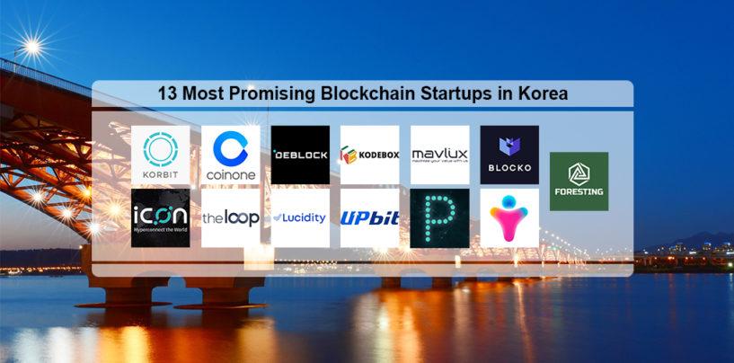 13 Most Promising Blockchain Startups in Korea