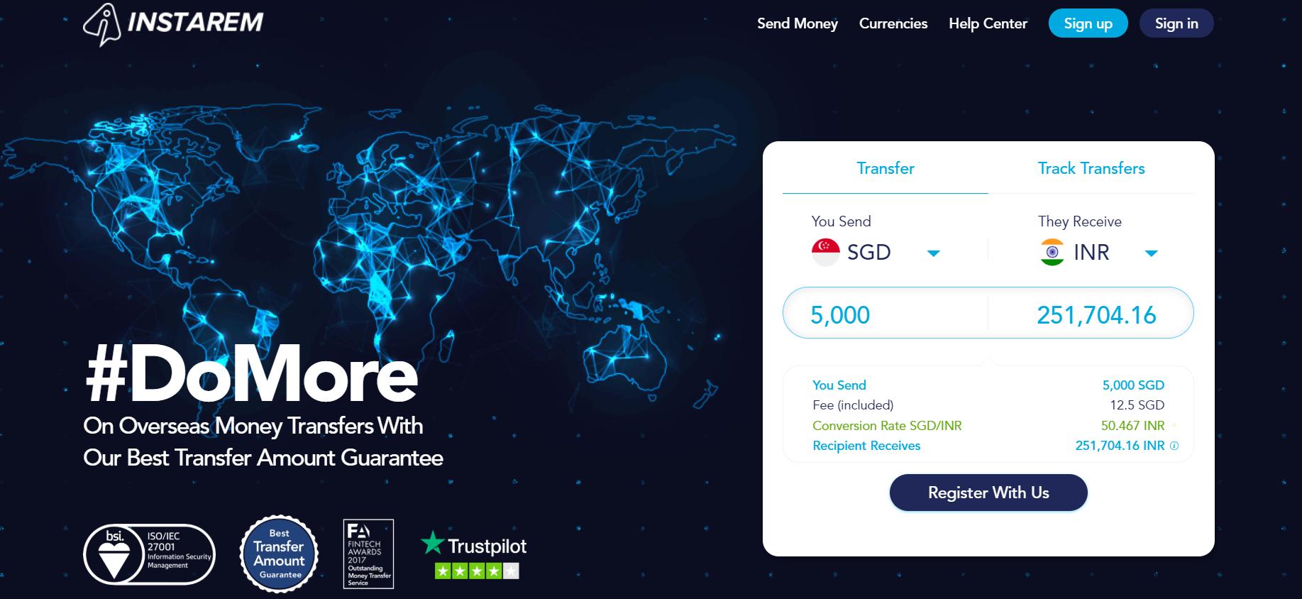 digital nomad traveller singapore fintech app instarem