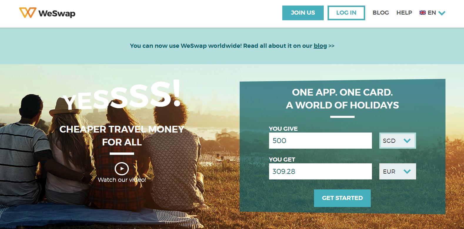 digital nomad traveller singapore fintech app weswap