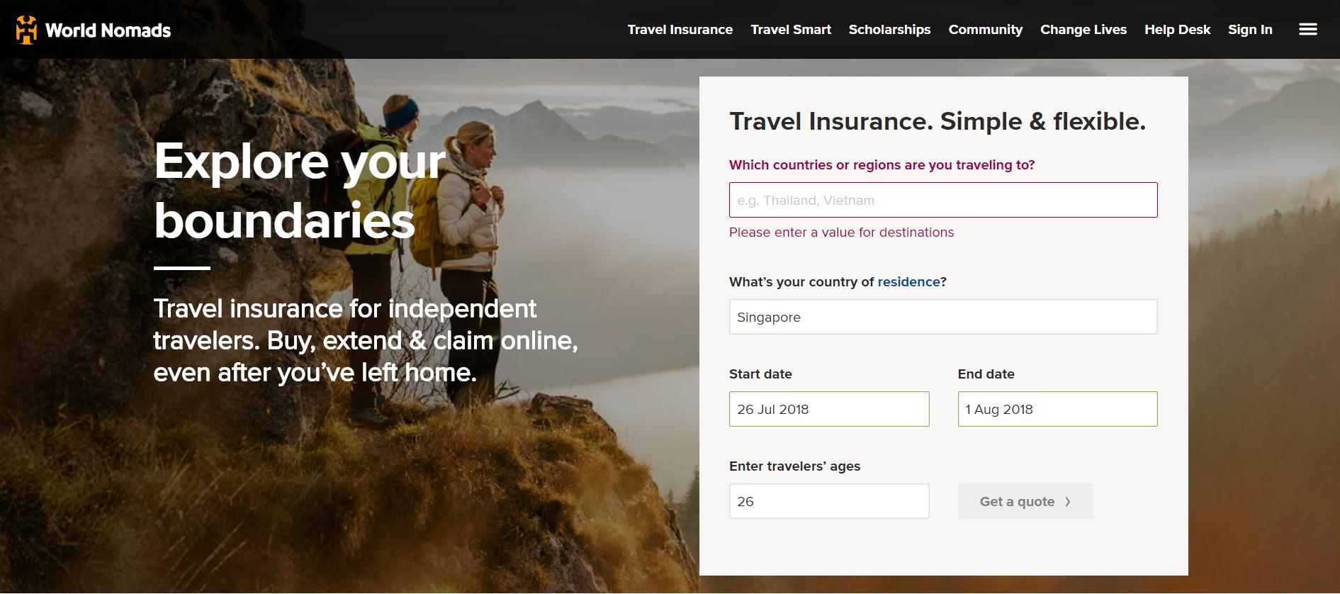 digital nomad traveller singapore fintech app world nomads