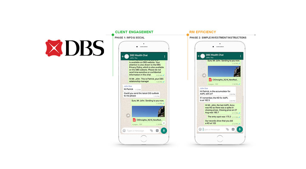 DBS Wealth Clients Can Now Use Whatsapp And Wechat For Banking Services
