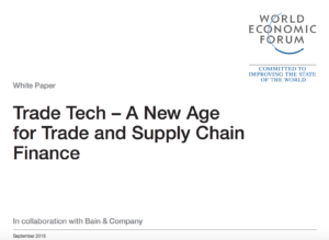 WEF Bain Co Trade Blockchain