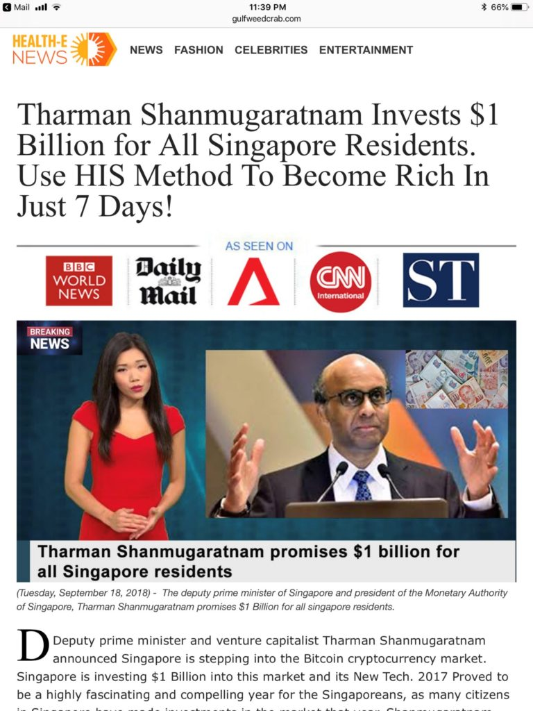 mas dpm tharman investment scam article bitcoin