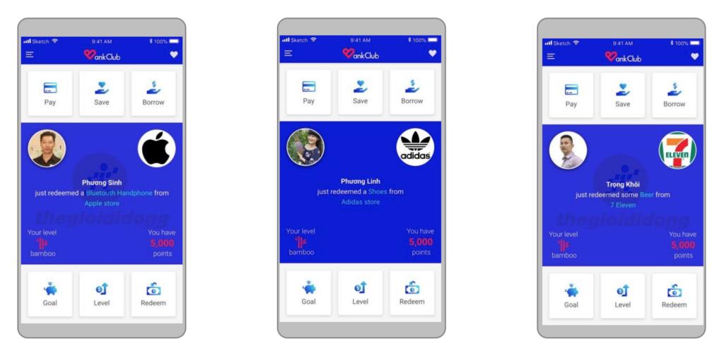 BankClub mobile app