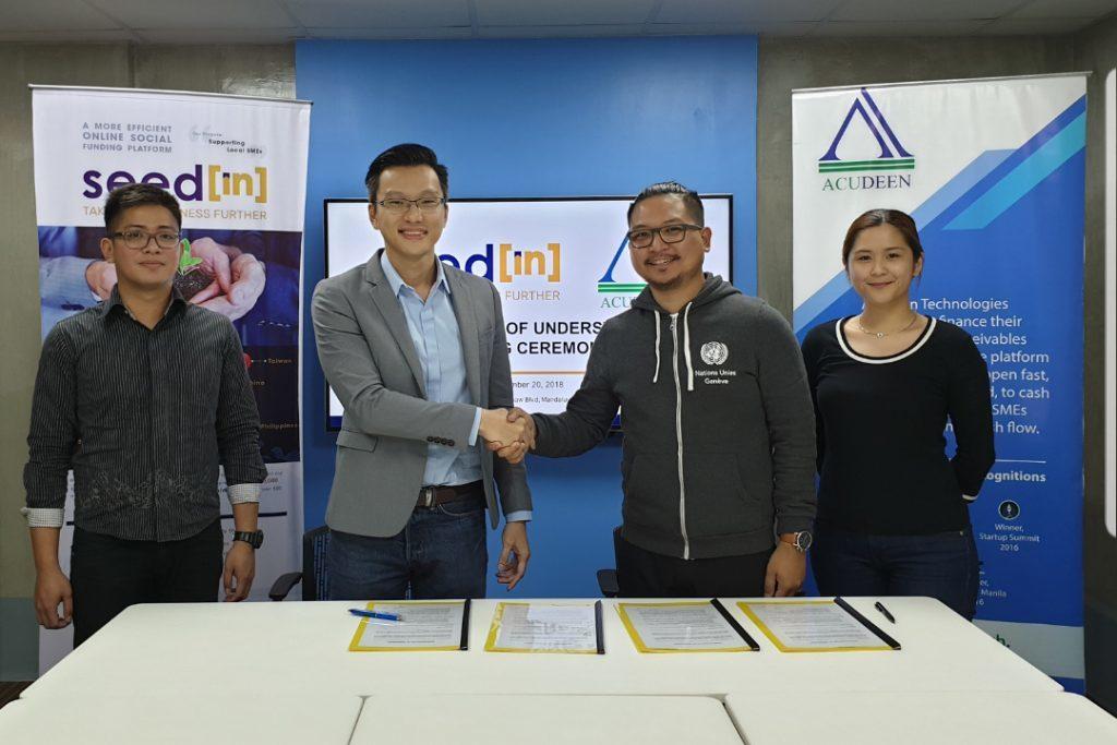 SeedIN Acudeen partnership