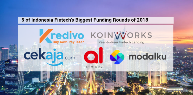 5 of Indonesia Fintech's Biggest Funding Rounds of 2018