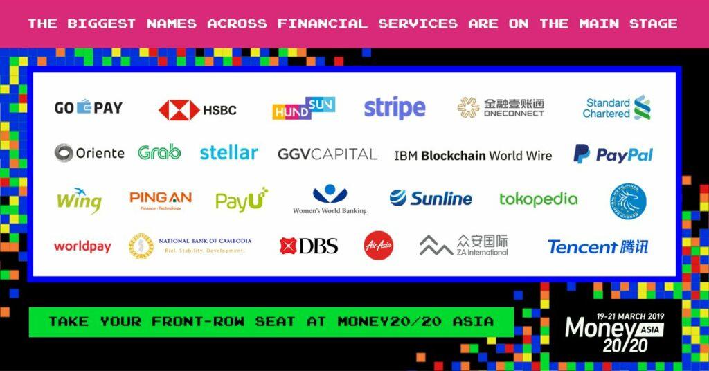 Money20/20 Asia 2019 Main Stage Speakers, via Twitter