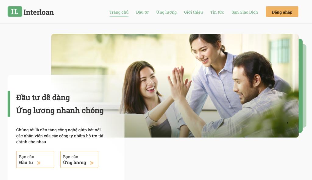 Interloan homepage, interloan.vn