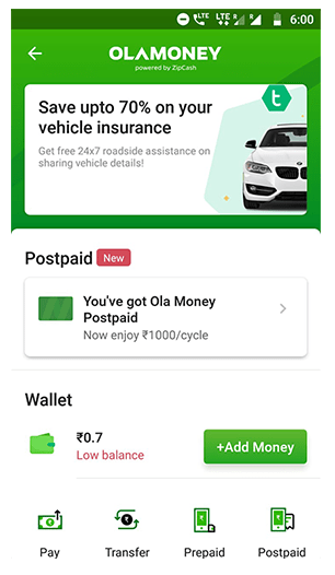 OlaMoney Postpaid